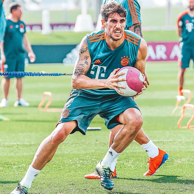 Javi in FC Bayern winter stage at Doha (Jan 2019)