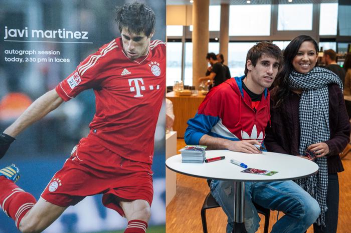 Javi Martínez erneuert in Herzogenaurach seinen vertrag mit adidas (10.12.2012)
