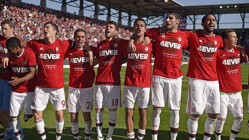 MEISTER! So jubeln die Bayern in Ingolstadt (07:05:2016)