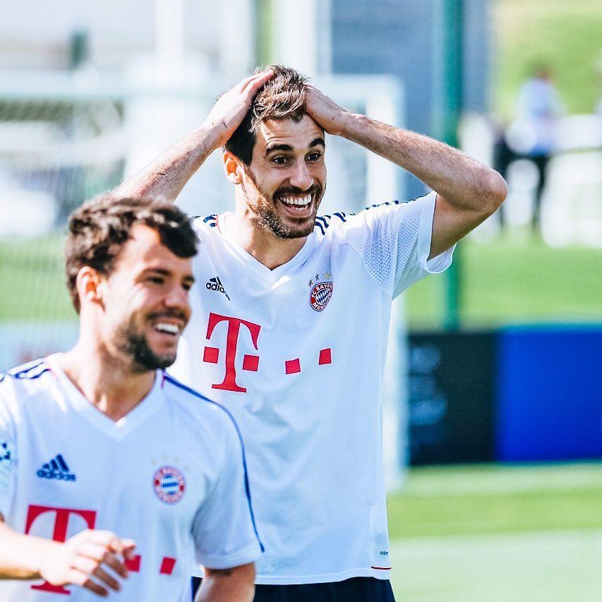Javi, en la concentración de invierno del Bayern en Doha (Enero 2018)