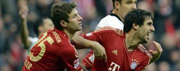 Javi Martínez marca de chilena su primer gol con el Bayern