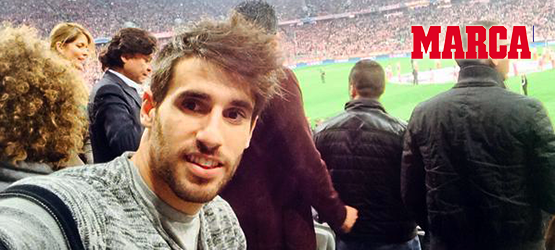 Six-goal game with Javi Martínez