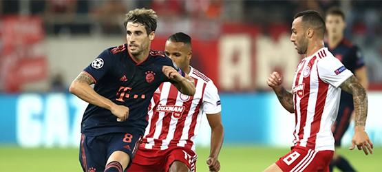 El Bayern remonta en el Pireo (2-3)