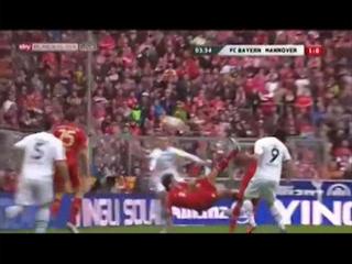 Erstes Tor von Javi Martínez bei Bayern FC Bayern, 5 - Hannover 96, 0 (24.11.2012)