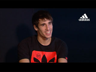 One-to-one interview with Adidas after the signing of a new deal (10-12-2012)