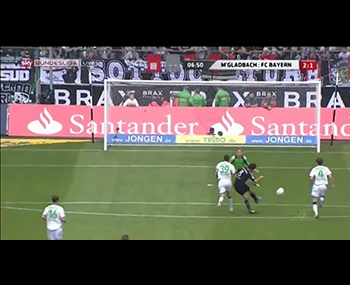 Javi Martínez's goal (2-1). Borussia Mönchengladbach 3  - Bayern FC 4 (18-05-13) Bundesliga 1