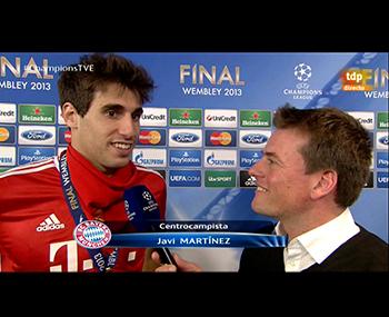 Javi Martínez, campeón de Champions League (25-05-13) TVE
