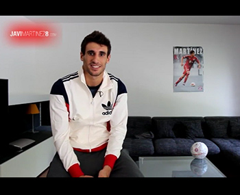 Javi's welcome to his new official website (08-08-13)