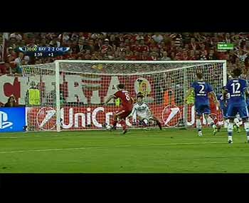 Gol de Javi Martínez 2-2. F.C. Bayern 2/4 - Chelsea F.C. 2/5 (30-08-13) Supercopa de Europa