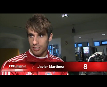 Javi Martínez speaking German (16-10-13) FCBTV