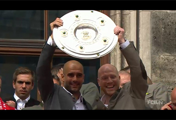 Bundesliga Champions FCB celebrate 25th Bundesliga Title (24-05-15)