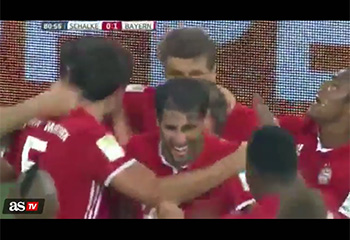 Amazing goal-assist to Lewandowski (09-09-16) ASTV