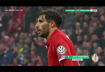 TOR VON JAVI MARTÍNEZ (1:1). FC BAYERN 2 - BVB DORTMUND 3 (26-04-17) DFB POKAL