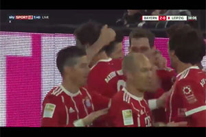 Superb assist to Lewy by Javi Martinez against RB Leipzig (28-10-17) Bundesliga 1