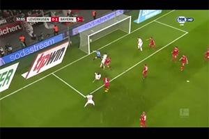 Javi Martínez goal (0-1). Bayer Leverkusen 1  - FC Bayern 3 (12-01-18) Bundesliga 1