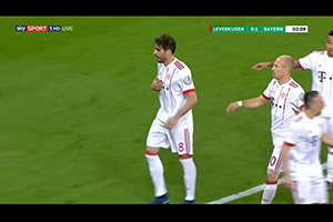 Gol de Javi Martínez (0-1). Bayer Leverkusen 2 - FC Bayern 6 (17-04-18) DFB Cup