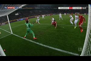 Gol de Javi Martínez (0-1). Borussia Mönchengladbach 1 - FC Bayern 5 (02-03-19)