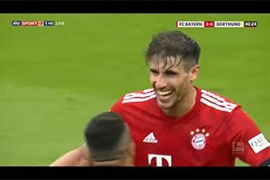 Gol de Javi Martínez (4-0). FC Bayern 5 - BVB Dortmund 0 (06-04-19) Bundesliga 1