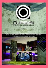 Cartel del restaurante Durban