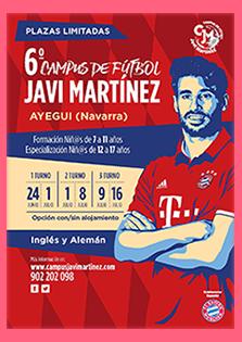 Cartel del I Campues de Fútbol Javi Martínez